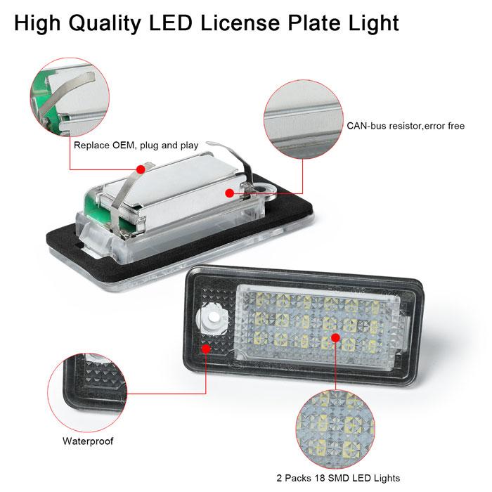 Audi LED License Plate Light ZL-C01
