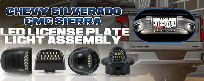 Truck LED License Plate Light Assembly